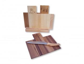 Set 3 taglieri in legno Coriandolo