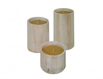 Candela in legno