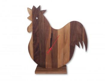 Orologio in legno Gallo