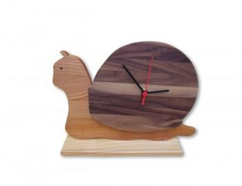 Orologio in legno da tavola Lumaca
