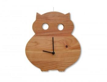 Orologio in legno Gufo